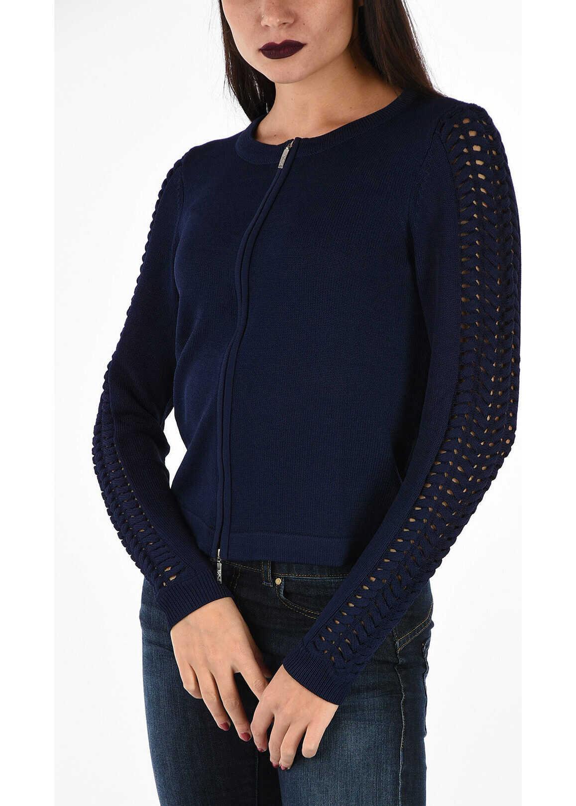 Armani EMPORIO Zipped Cardigan BLUE
