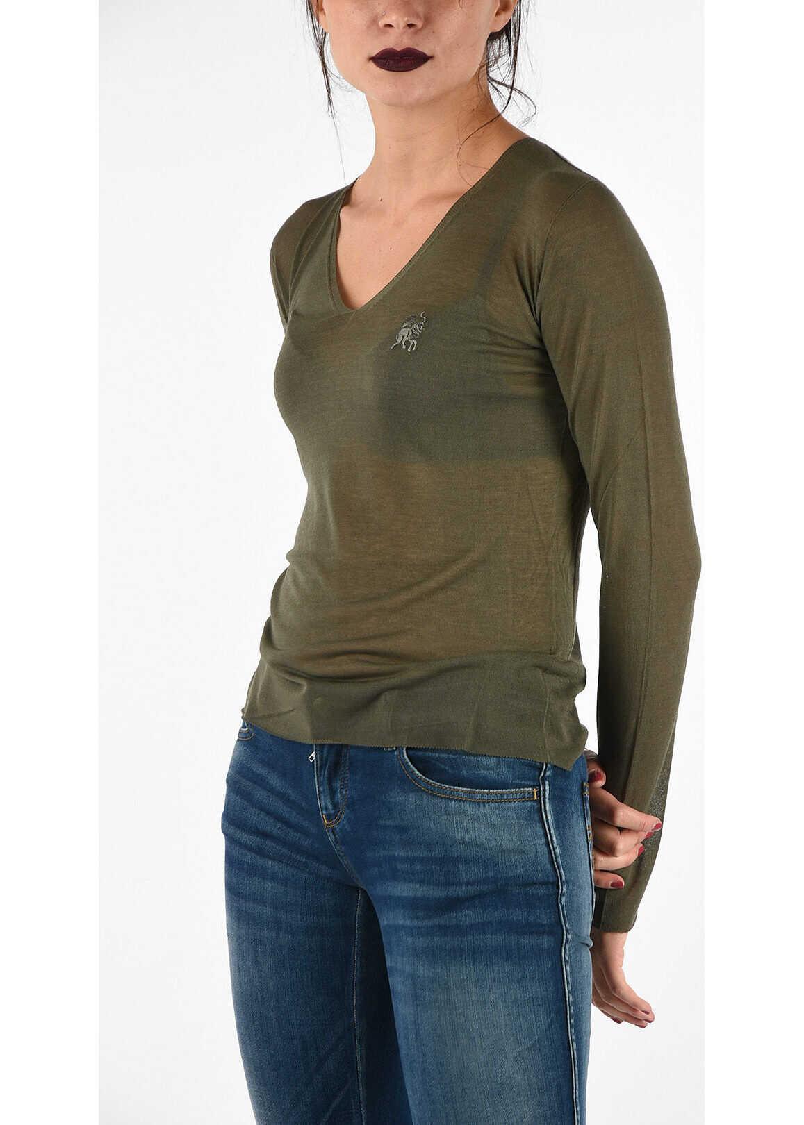 Armani EMPORIO V-neck Sweater GREEN