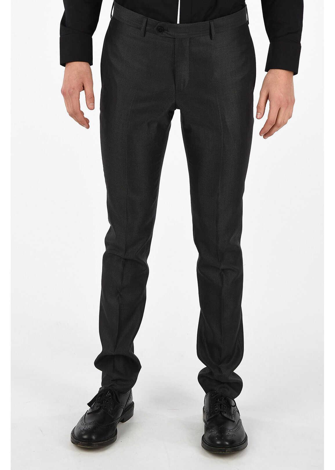 Armani EMPORIO Virgin Wool & Silk Pants BLACK