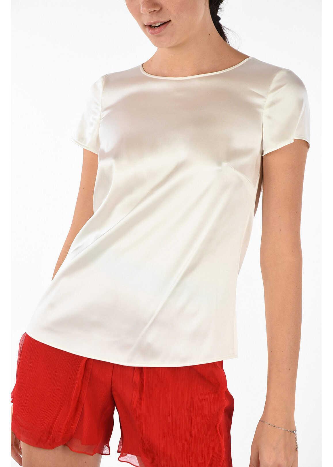 Armani COLLEZIONI Silk Blouse WHITE
