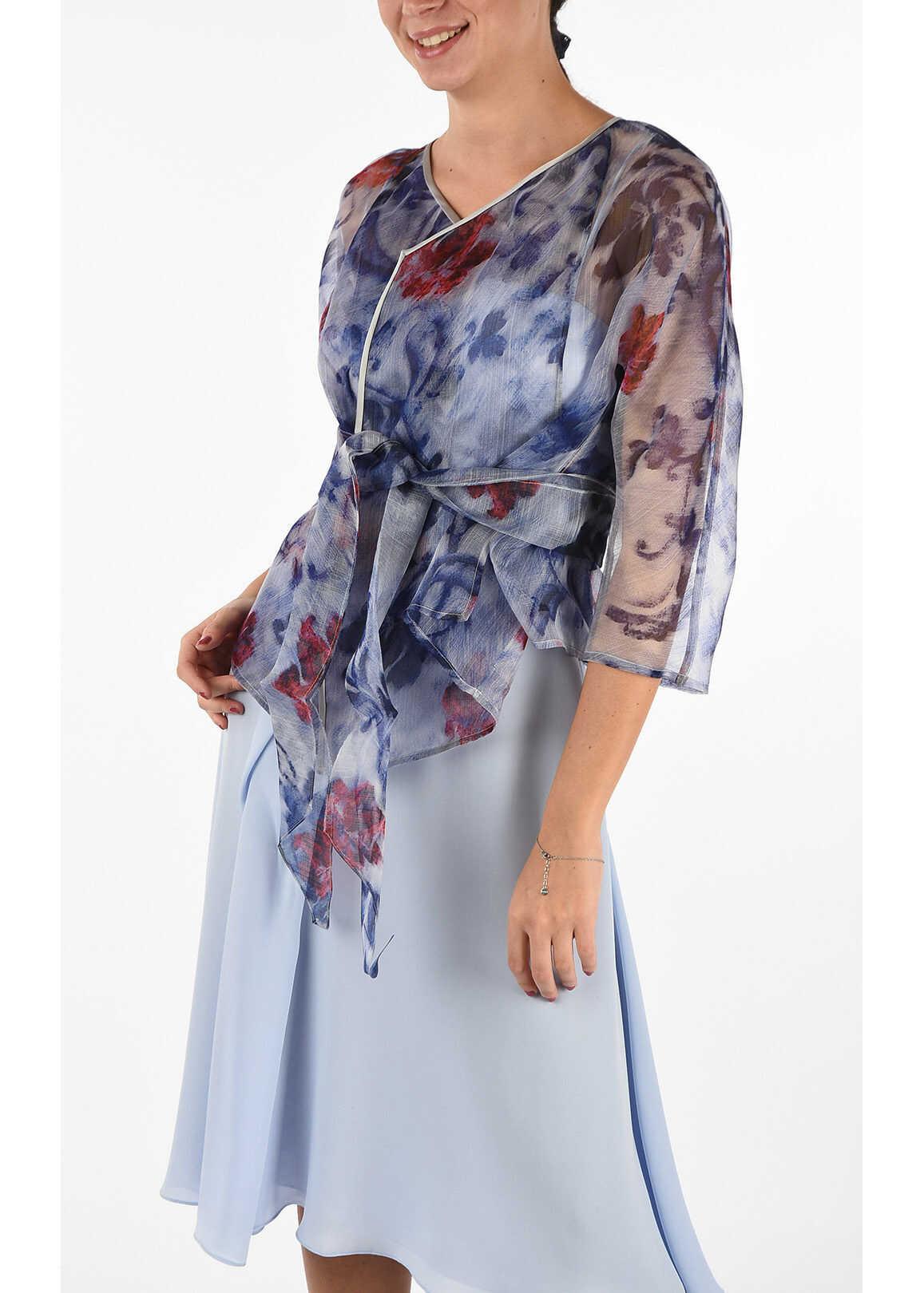 Armani COLLEZIONI Silk Floral Jacket MULTICOLOR