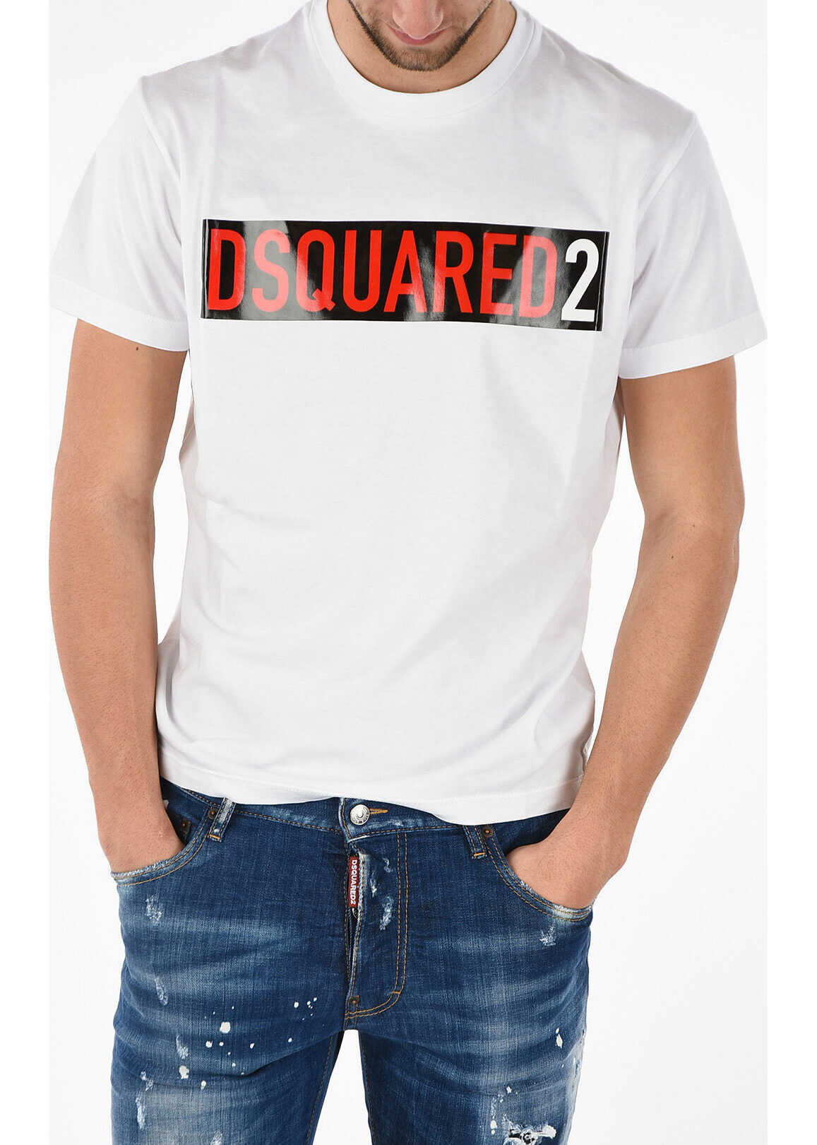 DSQUARED2 T-shirt COOL FIT With Print WHITE