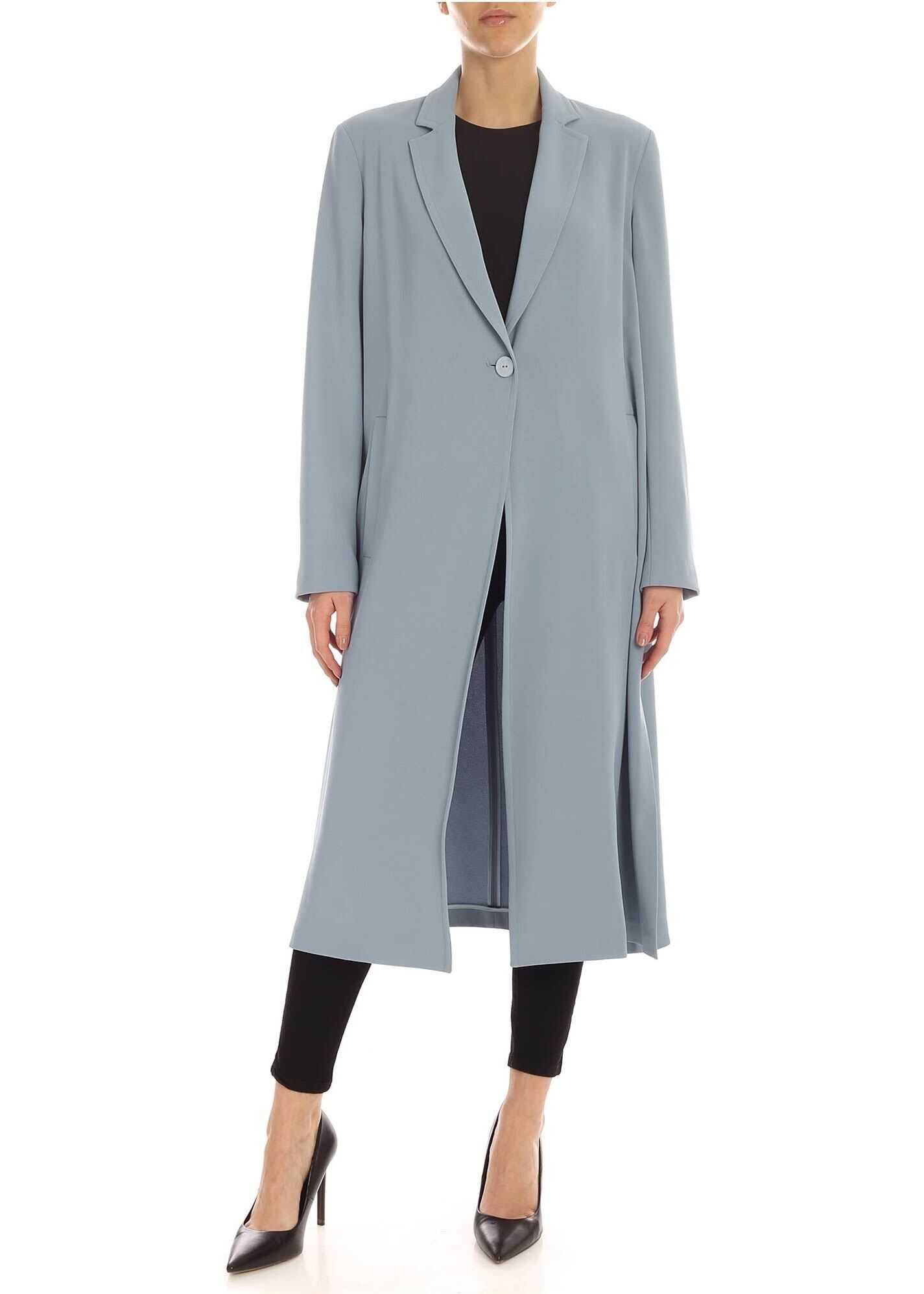 Dotto 2 Overcoat In Pale Blue Color thumbnail