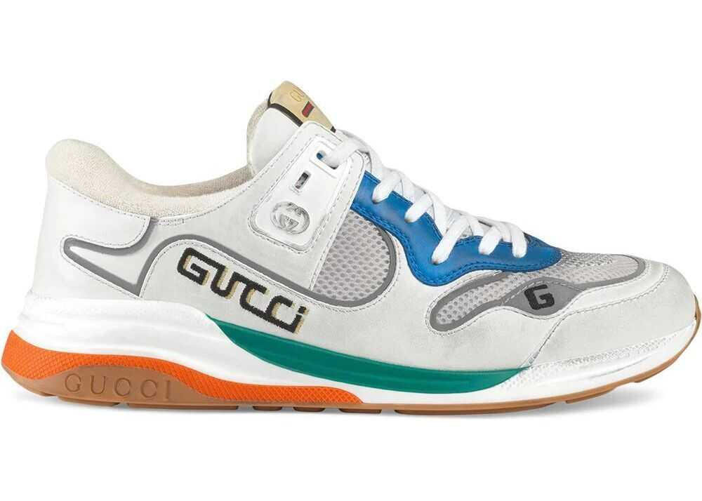 Gucci Leather Sneakers WHITE