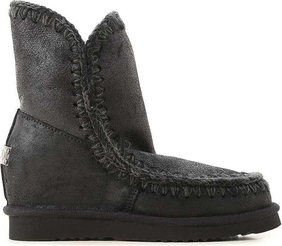 Mou Leather Ankle Boots BLACK