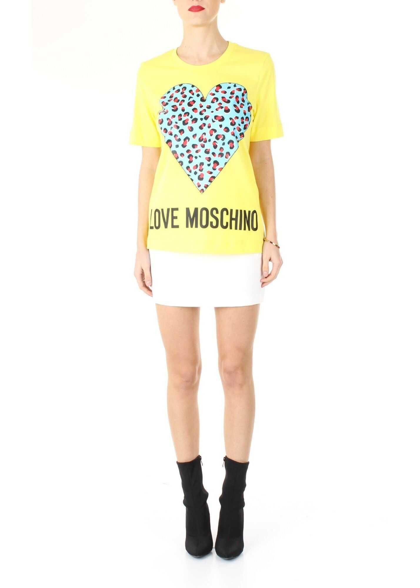LOVE Moschino Cotton T-Shirt YELLOW