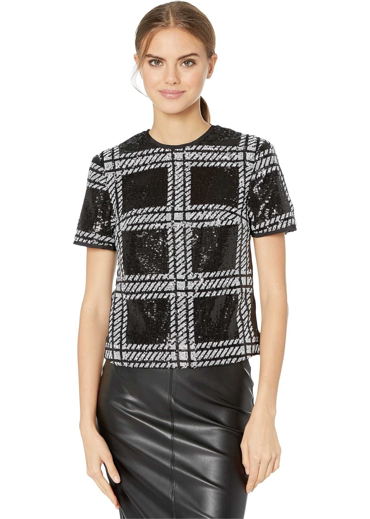 Bollie Check Sequin Detail Top