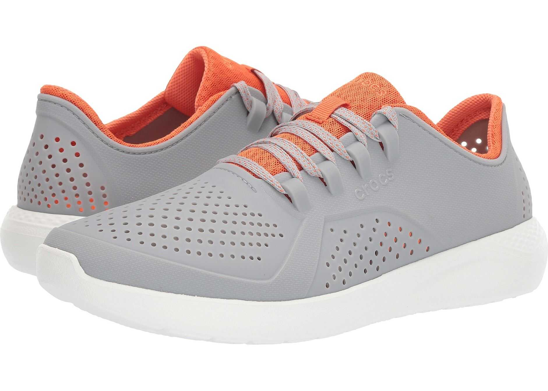 Crocs LiteRide Pacer Light Grey/Orange