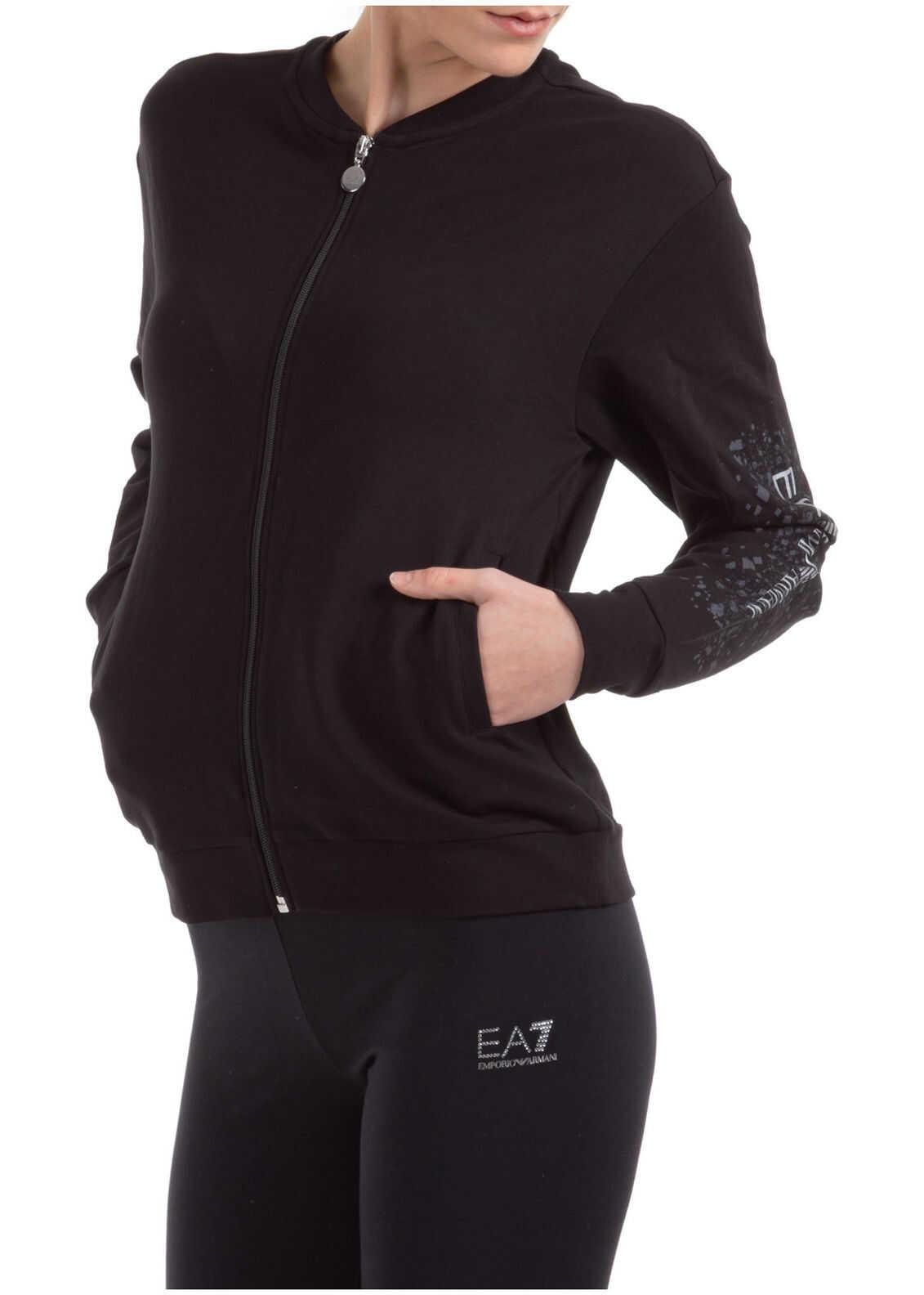 EA7 Zip Up Black