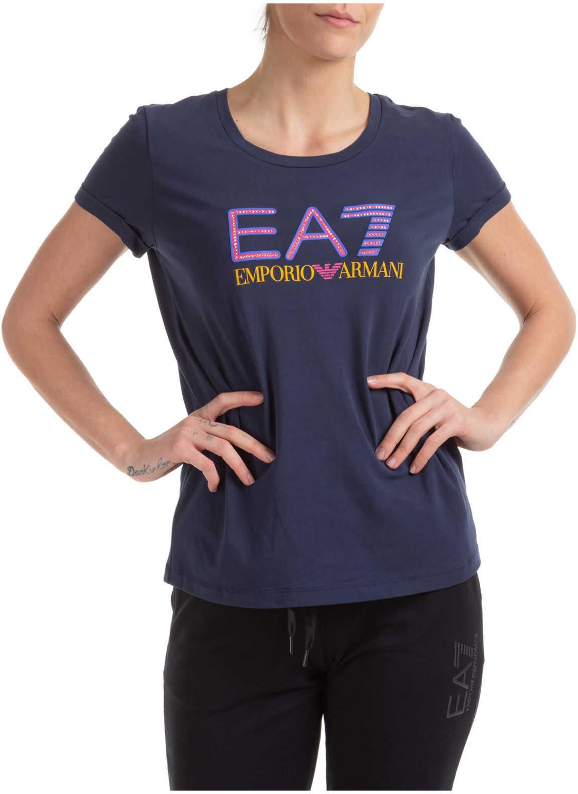 EA7 Neck Round Blue