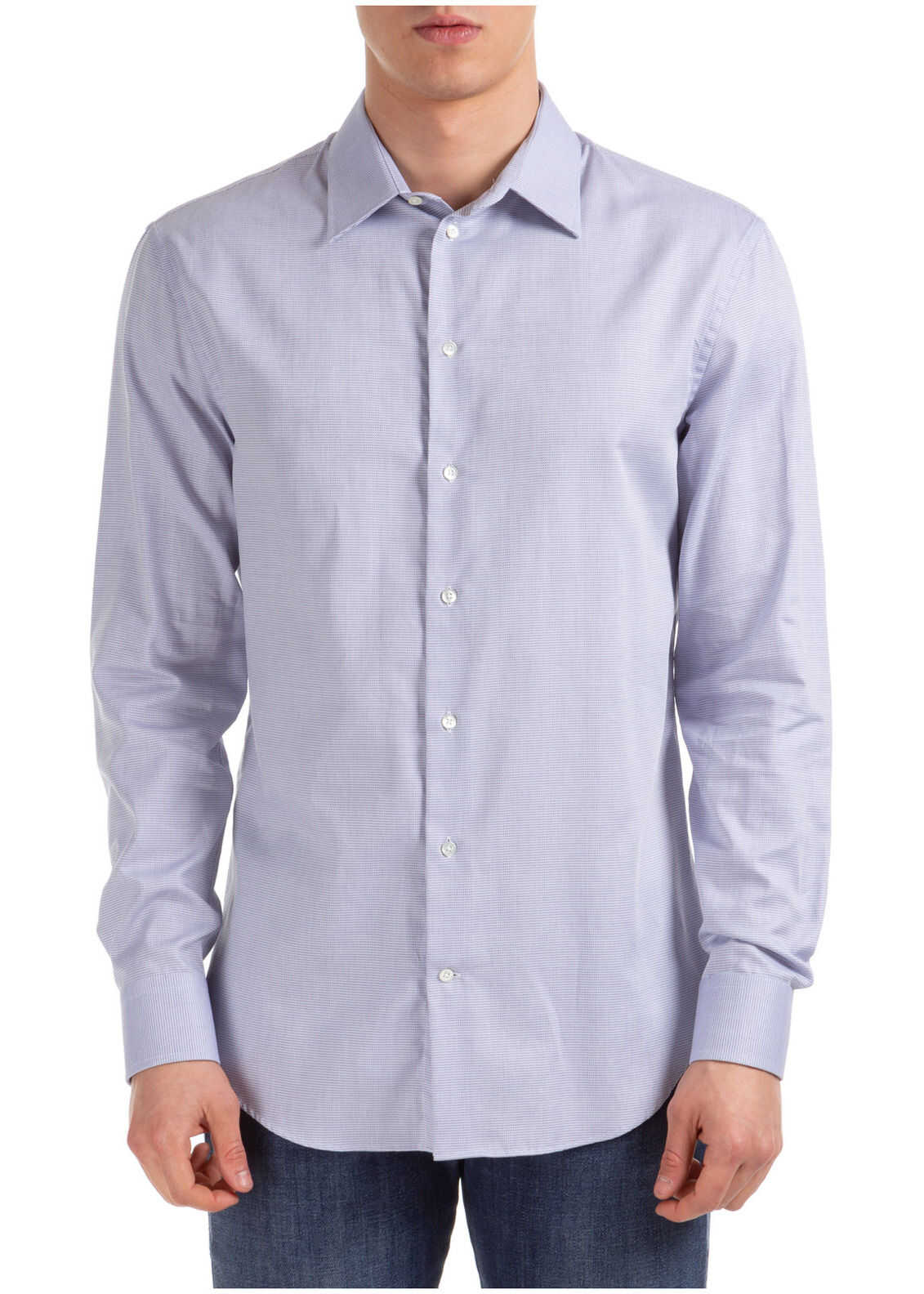 Emporio Armani Dress Shirt Purple imagine