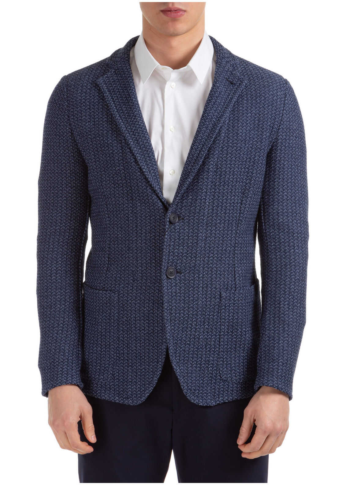 Emporio Armani Jacket Blazer Light blue imagine