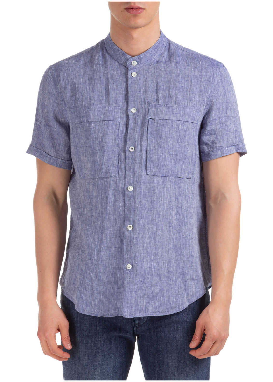 Emporio Armani Short Sleeve Shirt T-Shirt Blue