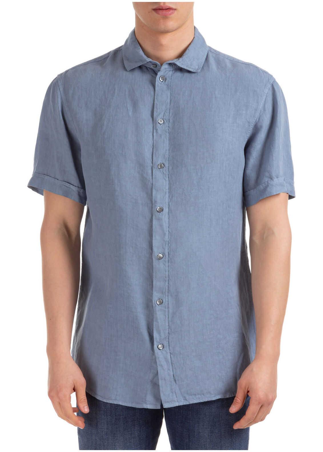 Emporio Armani Short Sleeve Shirt T-Shirt Grey imagine