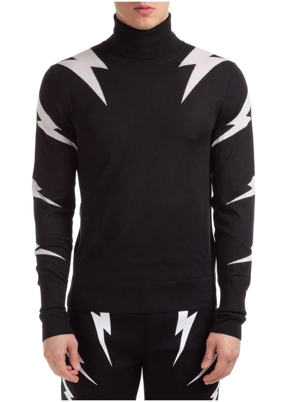 Neil Barrett Sweater Thunderbolt Black