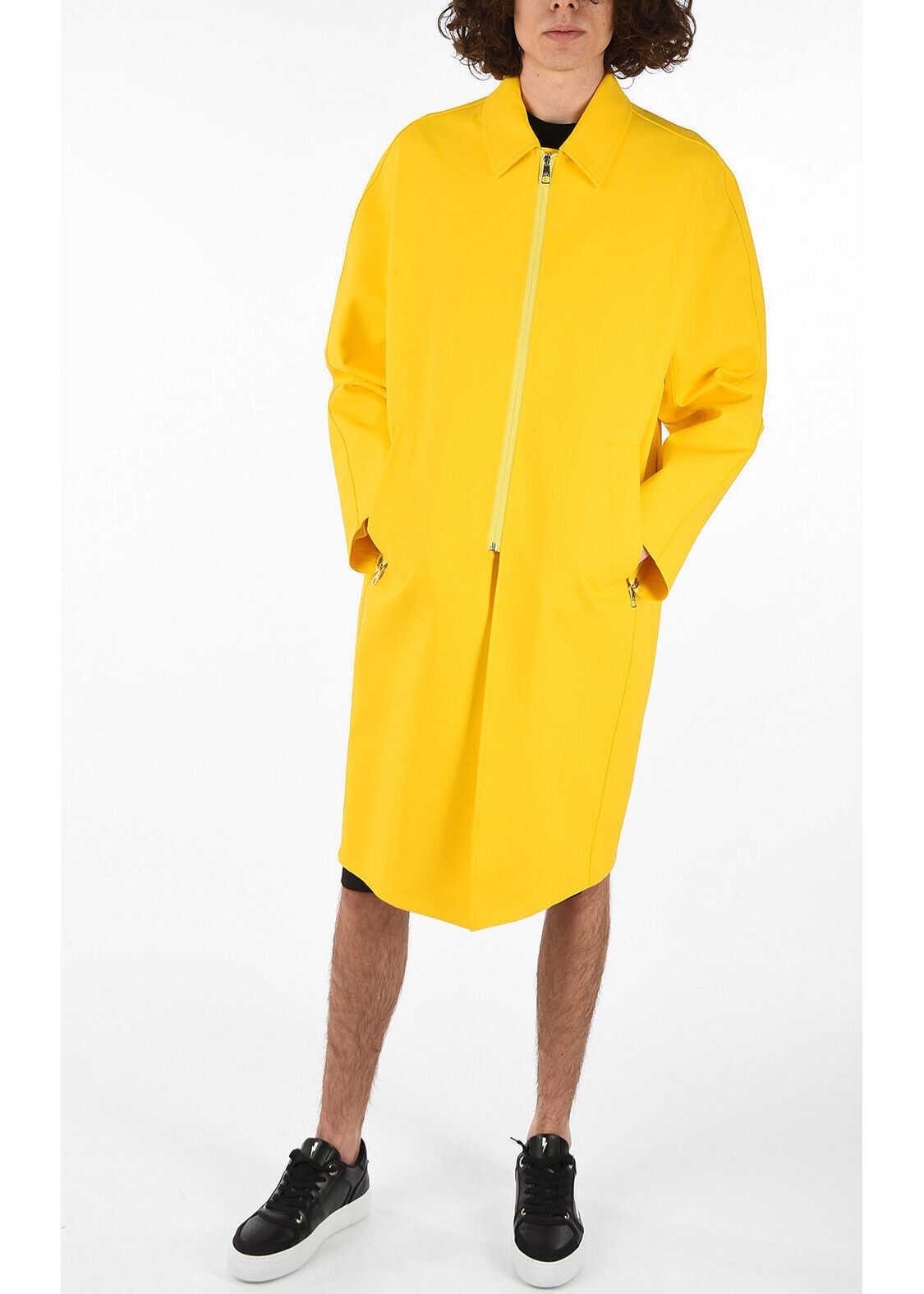 Neil Barrett Waterproof Raincoat YELLOW