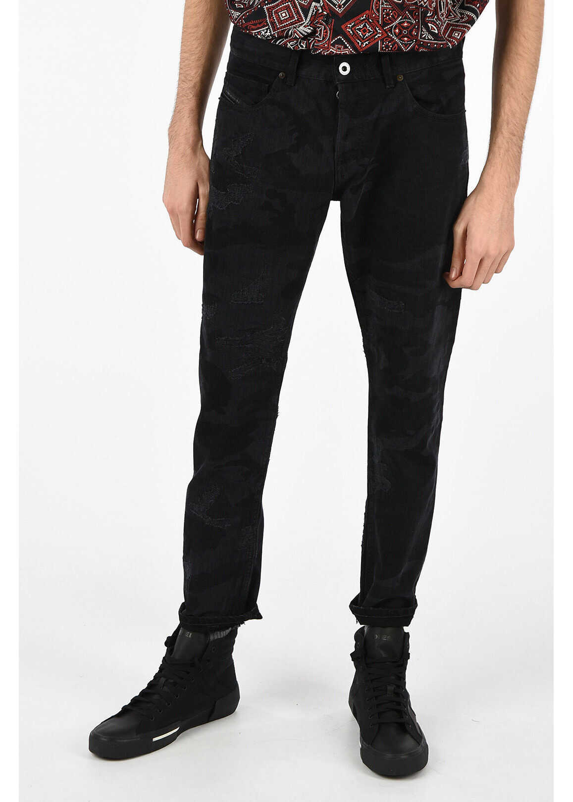 BLACK GOLD 17cm camouflage TYPE-2813 Slim fit jeans thumbnail