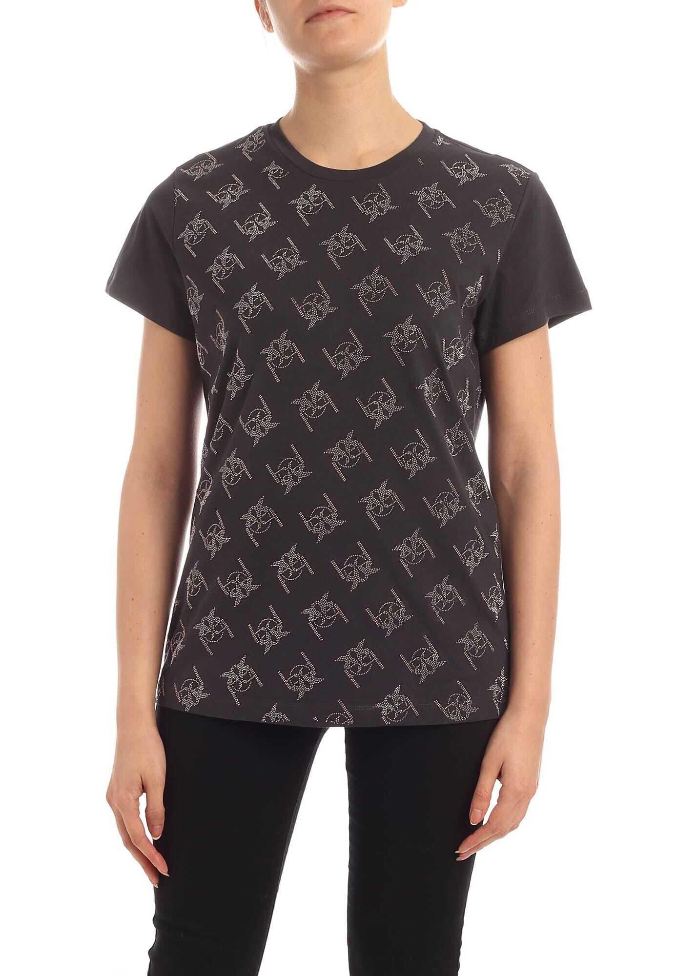 Pinko Leila T-Shirt In Black Black