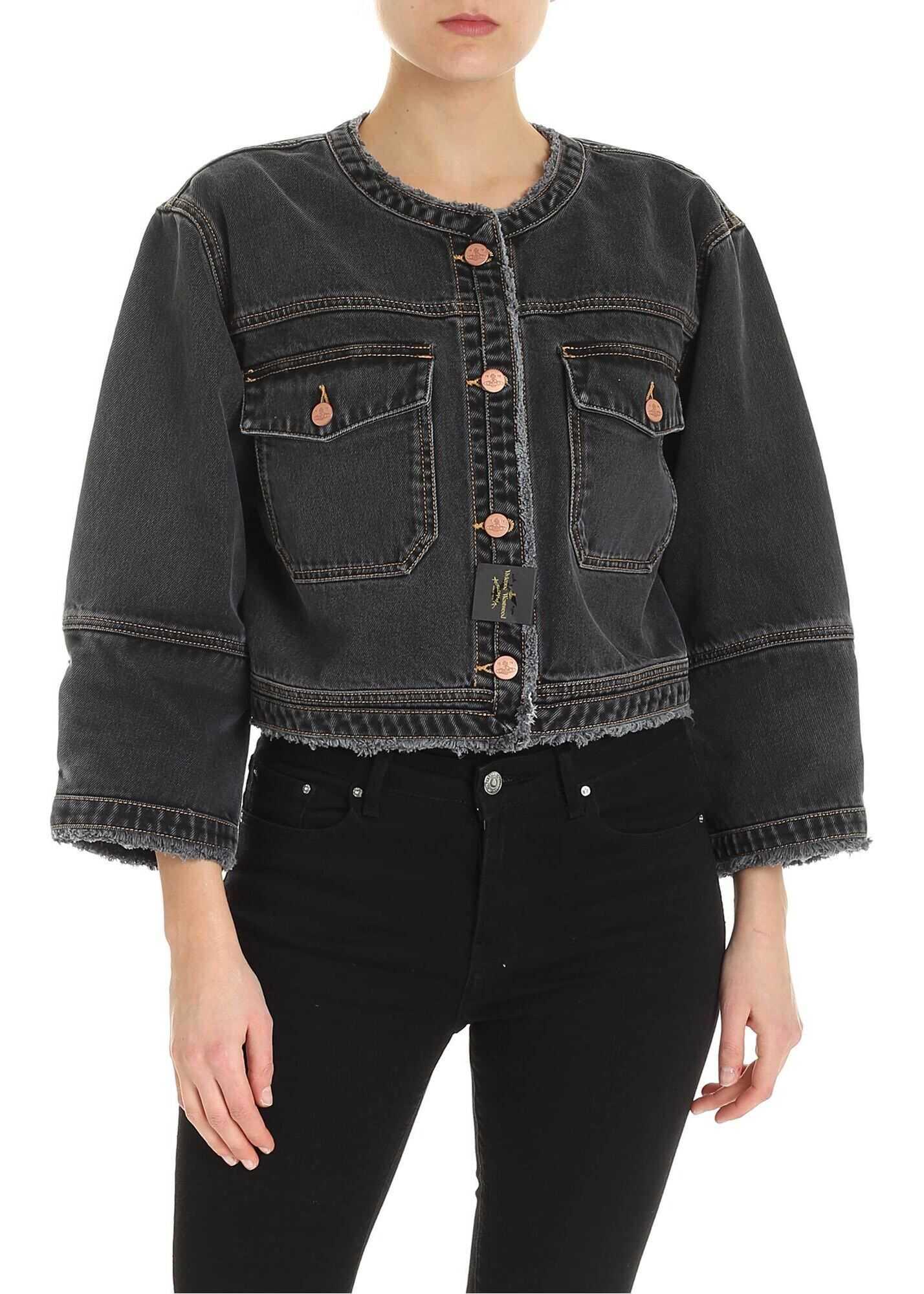 Vivienne Westwood Anglomania Dana Jacket In Black Black