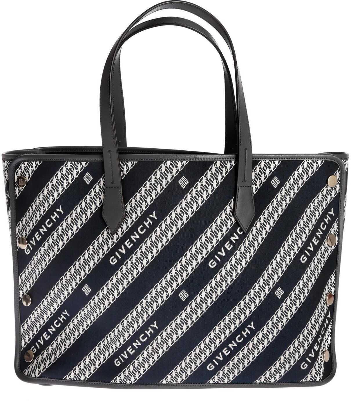 Givenchy Medium Bond Shopper In Oil Blue BB50AVB0S0 404 Blue imagine b-mall.ro