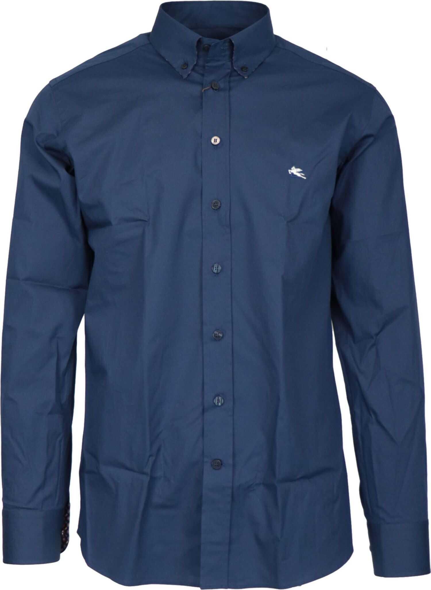 ETRO Cotton Shirt BLUE