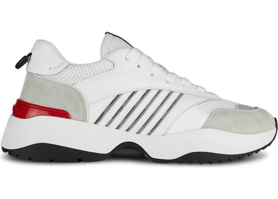 DSQUARED2 Leather Sneakers WHITE