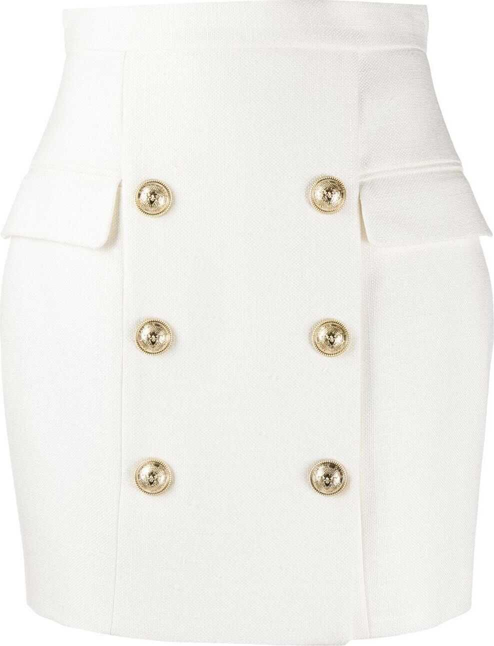 Balmain Viscose Skirt WHITE