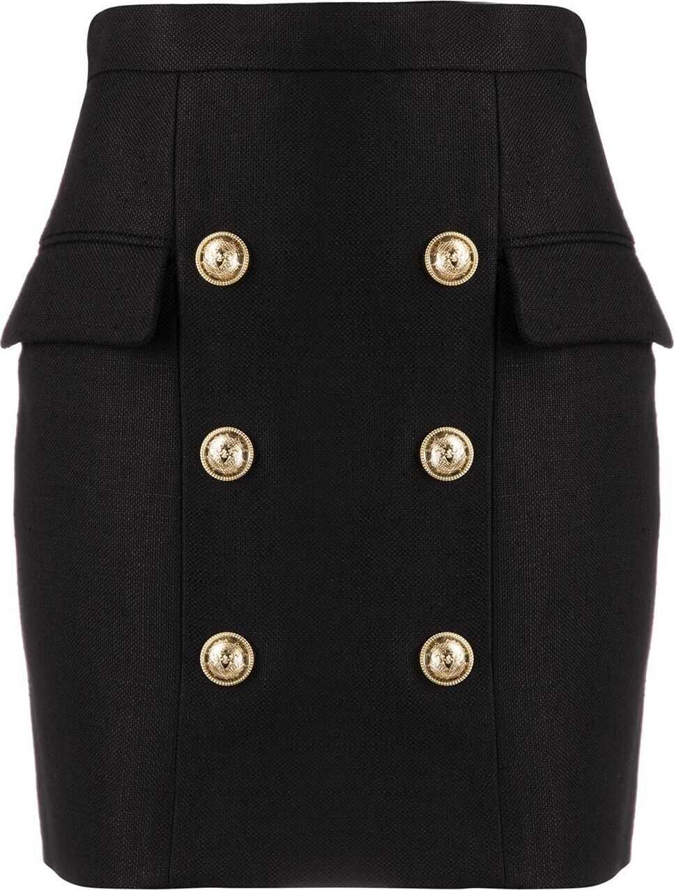 Balmain Viscose Skirt BLACK