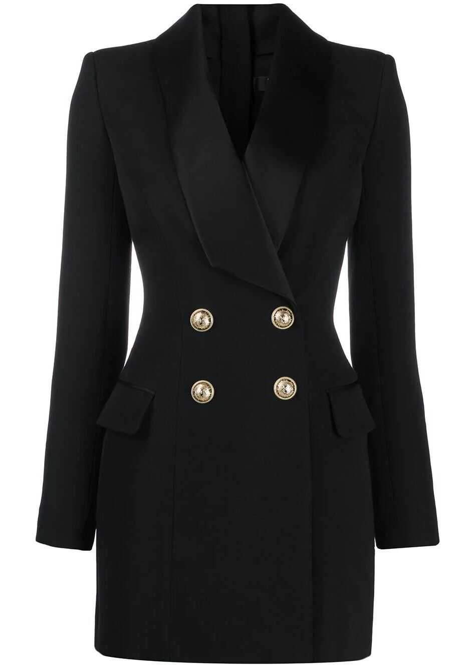 Balmain Wool Dress BLACK