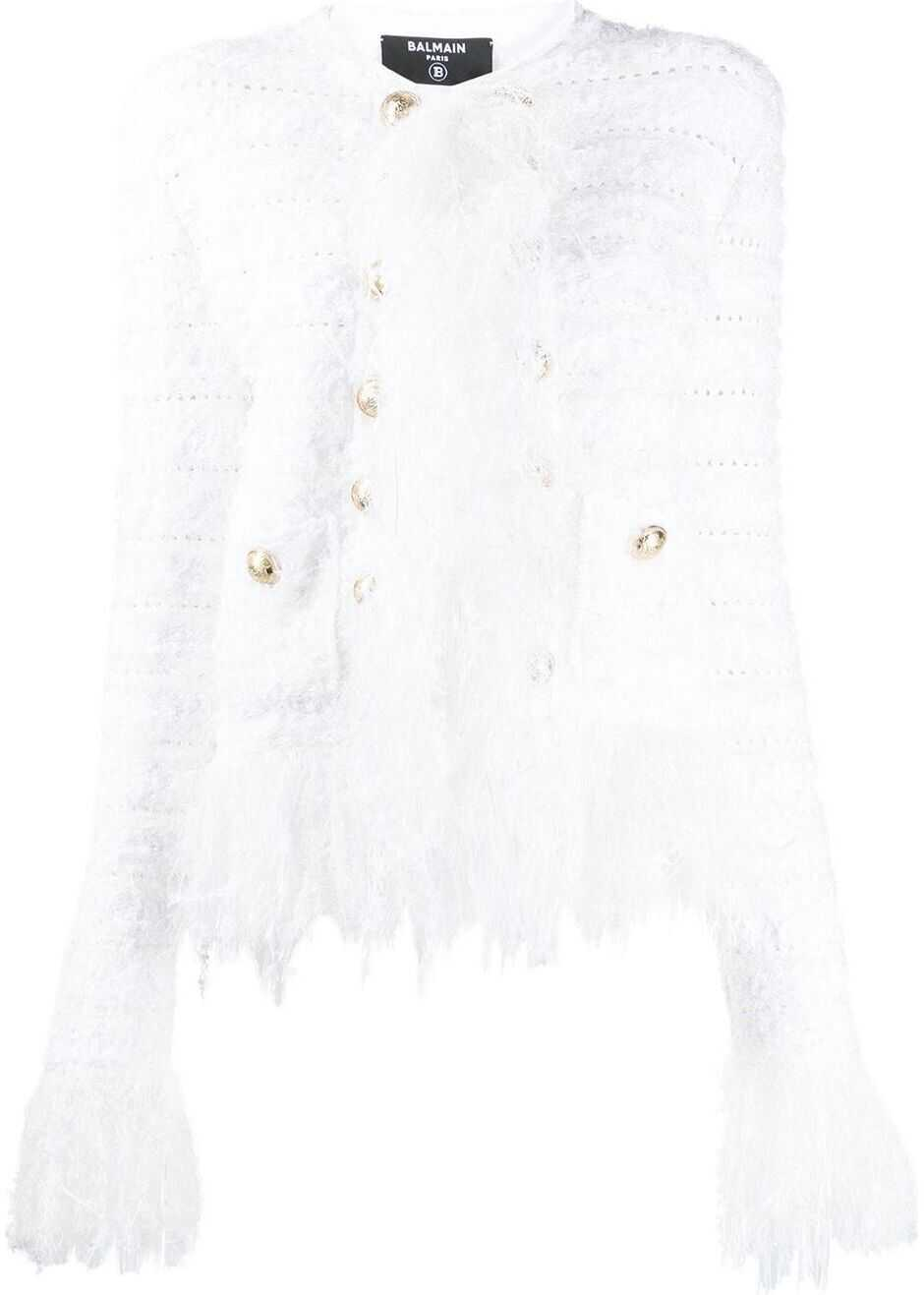 Balmain Viscose Jacket WHITE