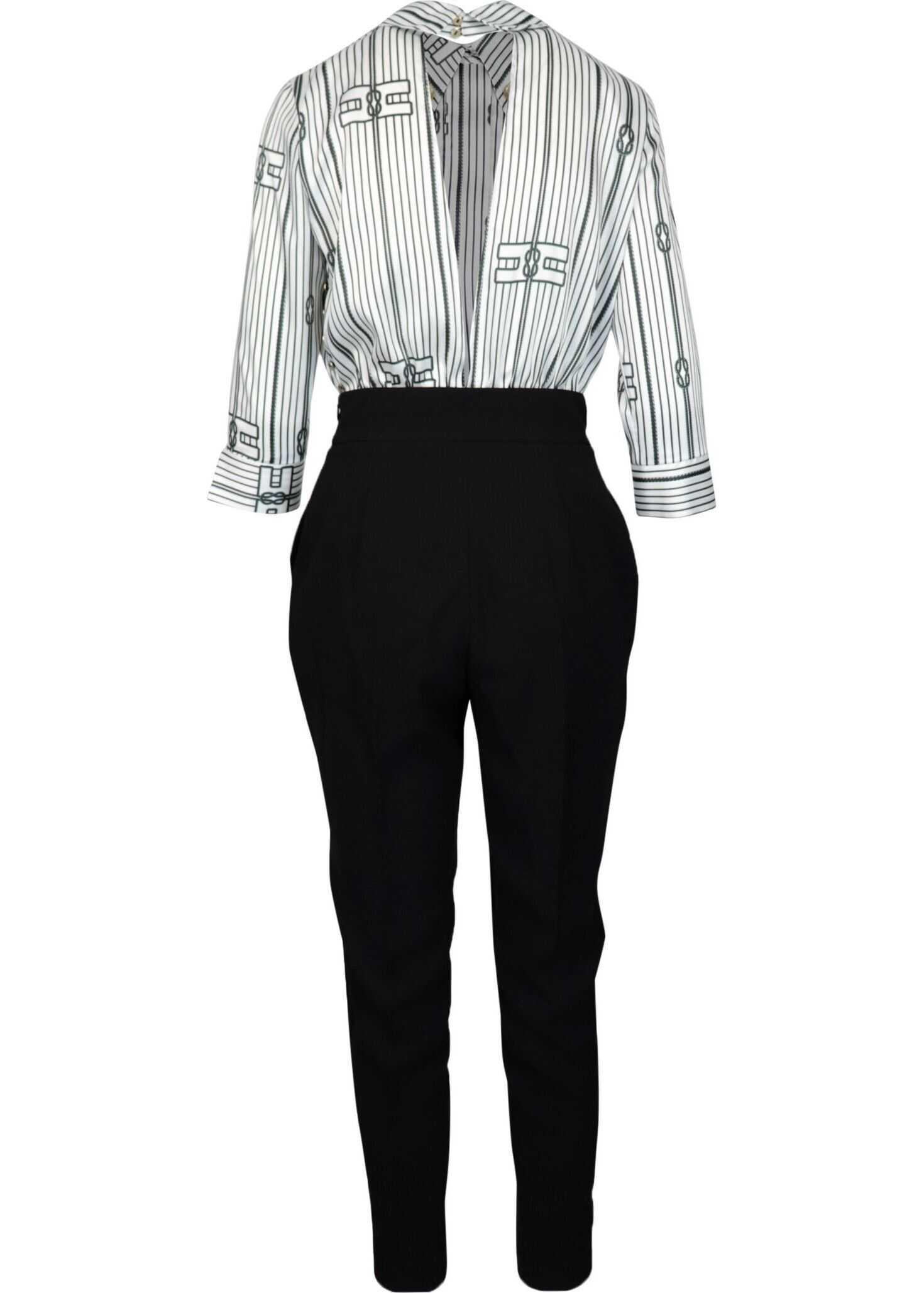 Elisabetta Franchi Polyester Jumpsuit BLACK