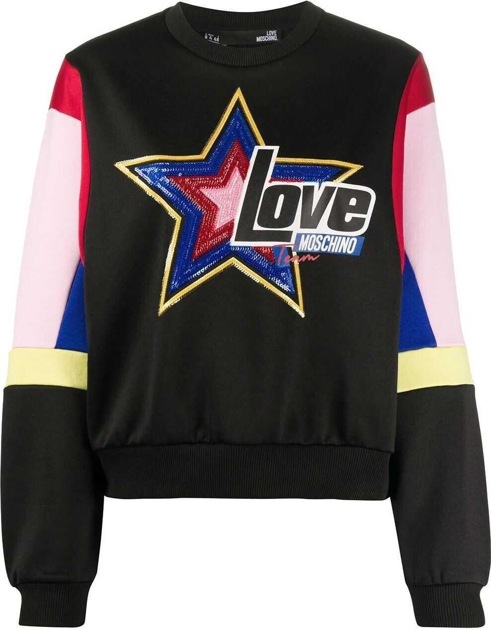 LOVE Moschino Cotton Sweatshirt BLACK