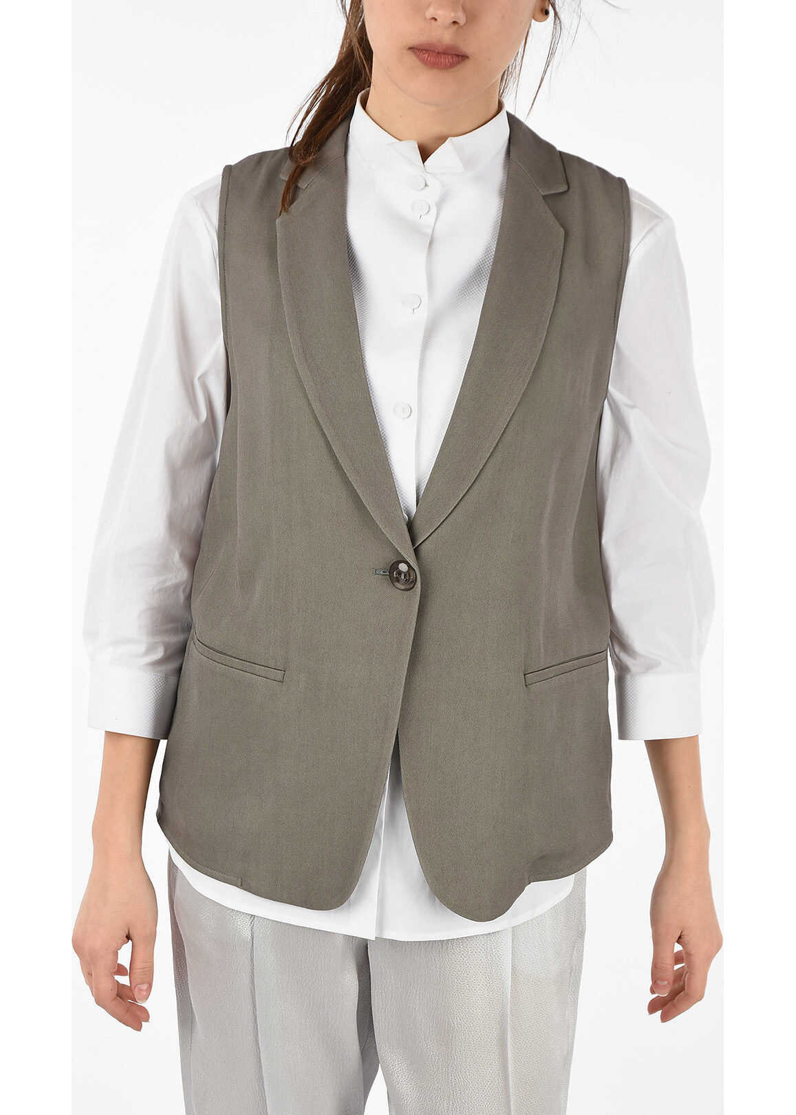 Armani EMPORIO Blouse with Gilet MULTICOLOR