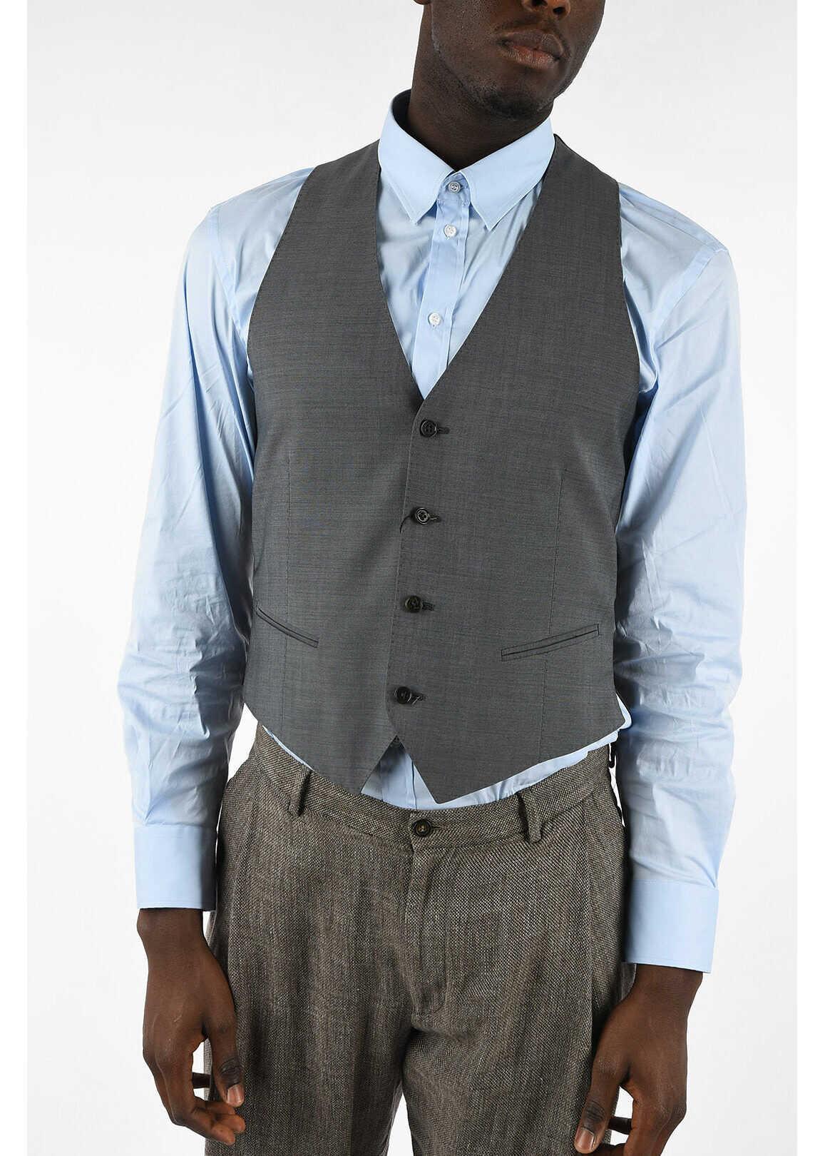 COLLEZIONI Virgin Wool 4 Button Vest thumbnail