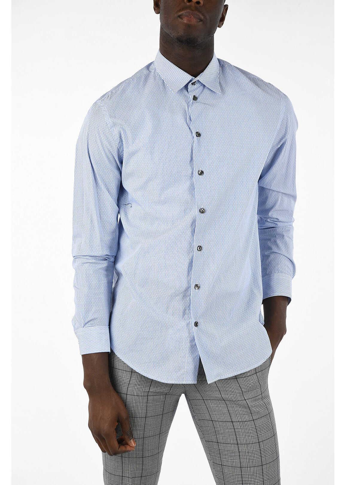 Armani COLLEZIONI Striped Shirt WHITE