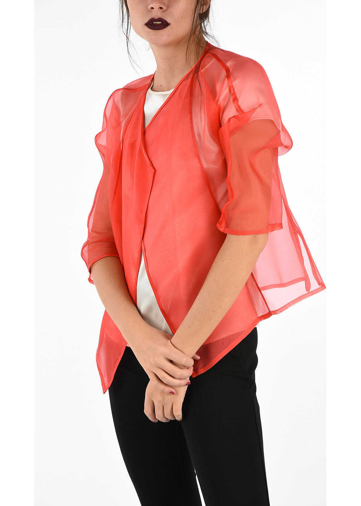 Armani COLLEZIONI Silk Blouse Jacket PINK