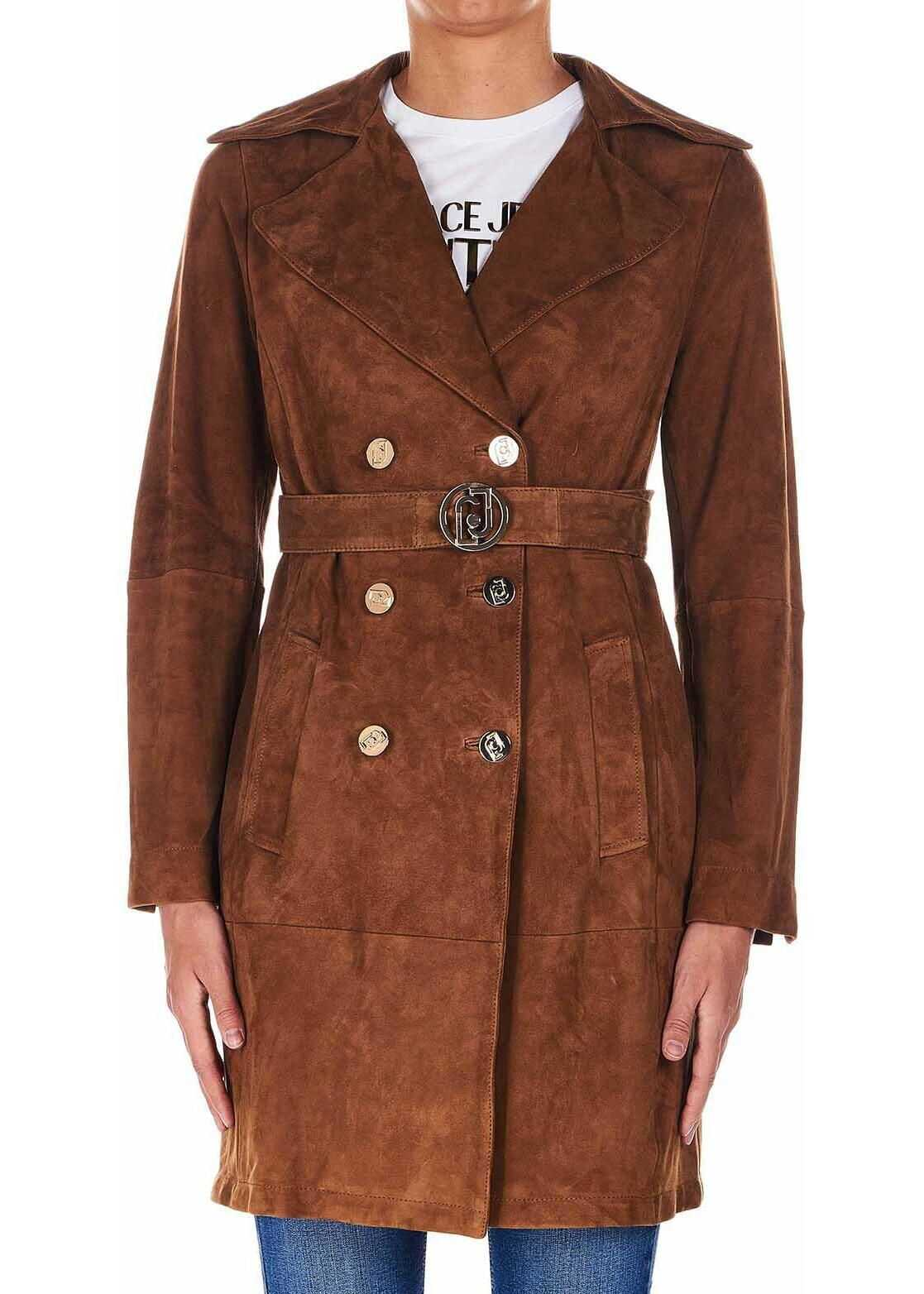 Liu Jo Trench coat in leather Brown