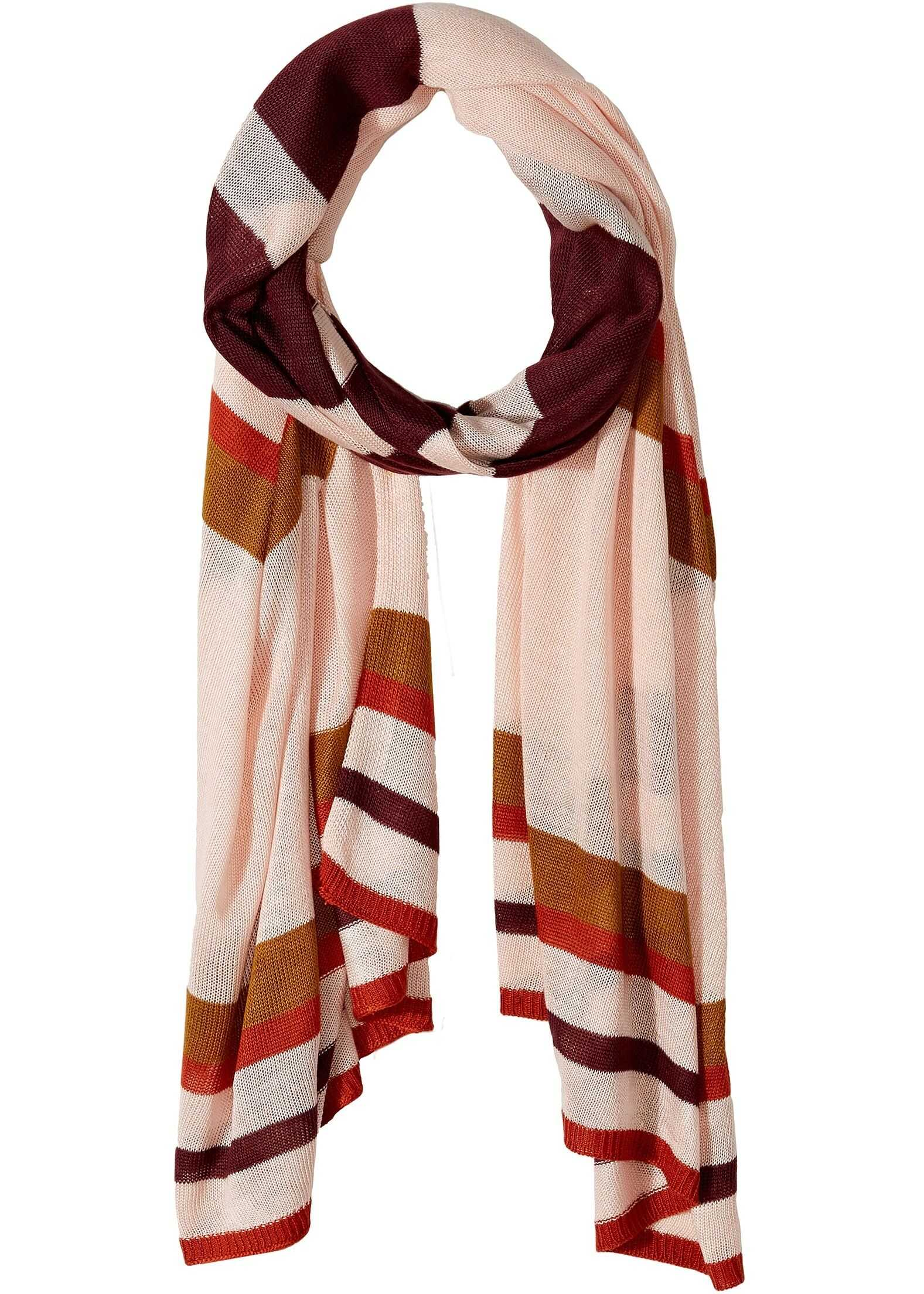 Vince Camuto Lightweight Stripe Knit Wrap Cameo Rose