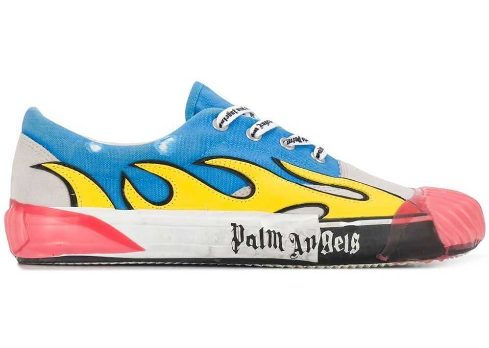 Palm Angels Leather Sneakers LIGHT BLUE
