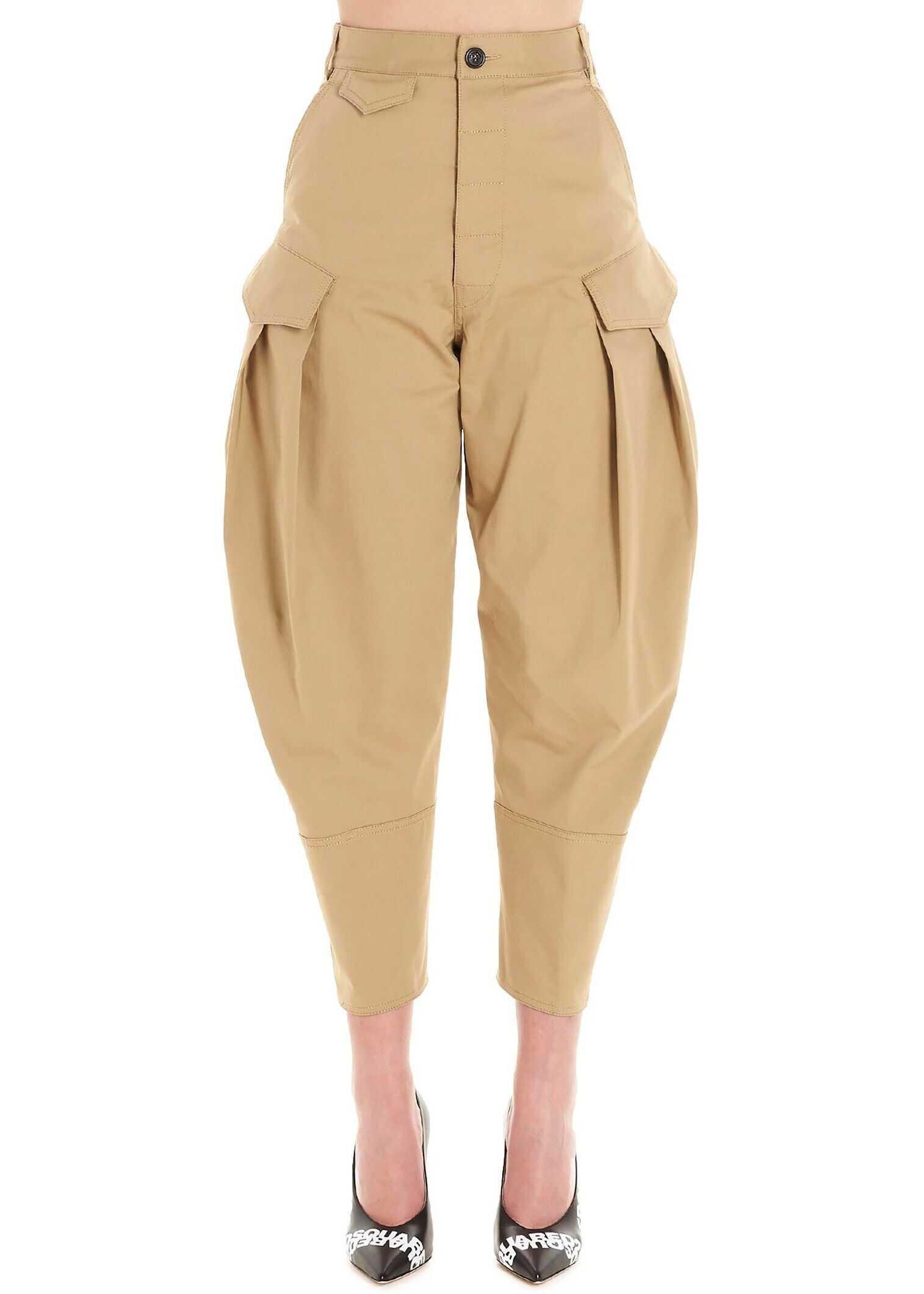 DSQUARED2 Cotton Pants BEIGE