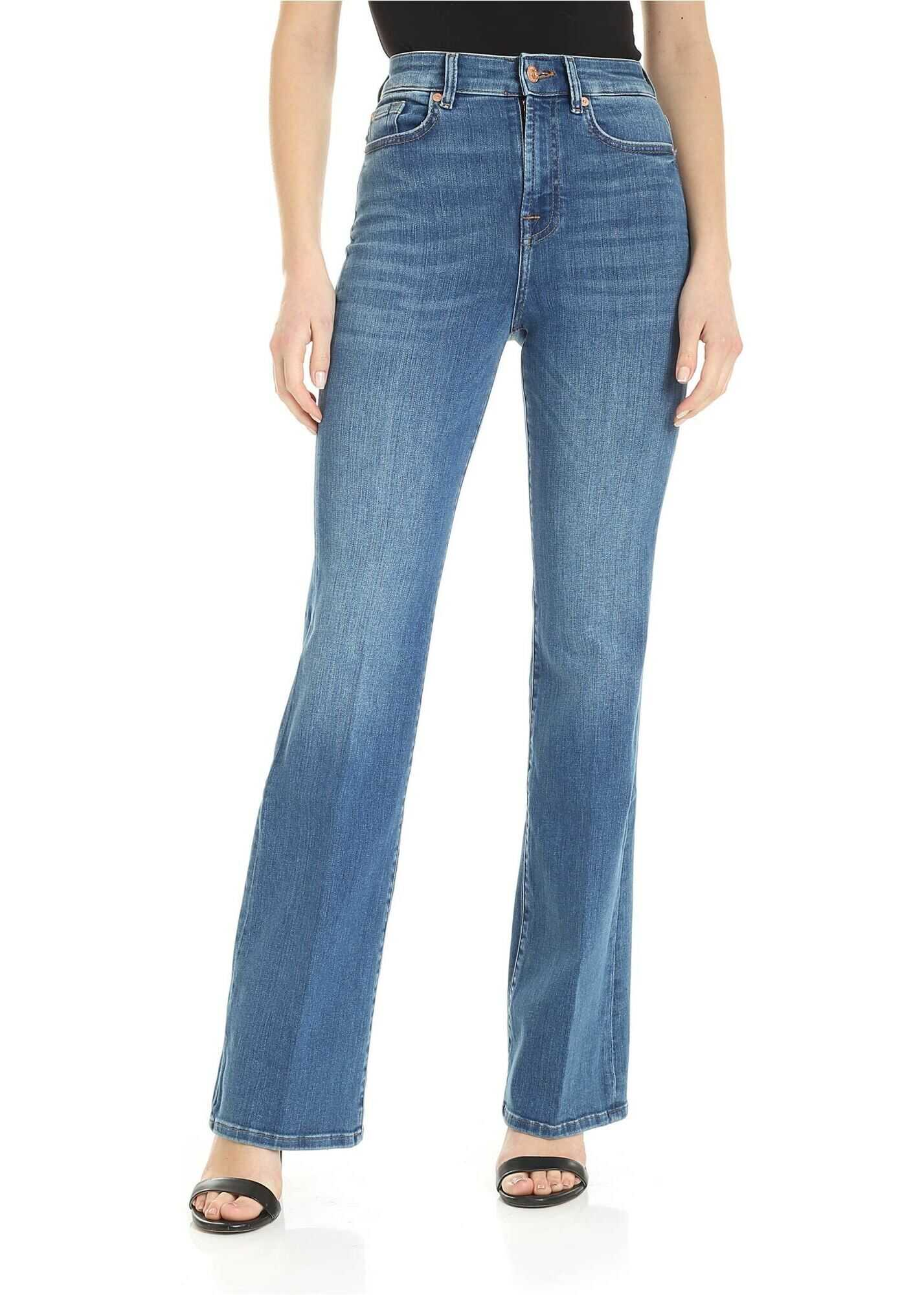 Lisha Slim Illusion Posessed Jeans In Blue thumbnail