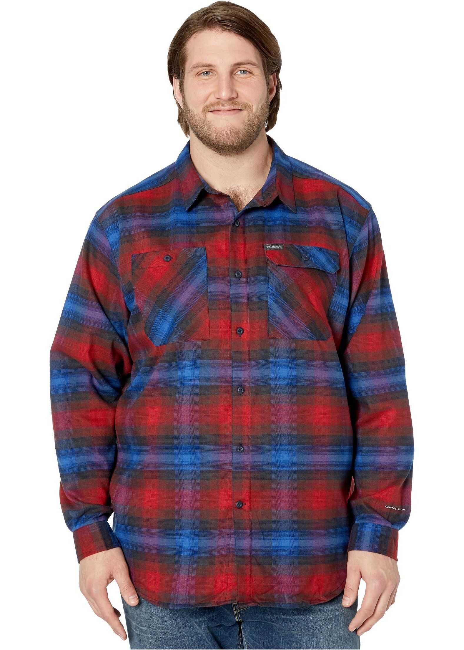 Columbia Big & Tall Outdoor Elements™ Stretch Flannel Red Jasper Plaid