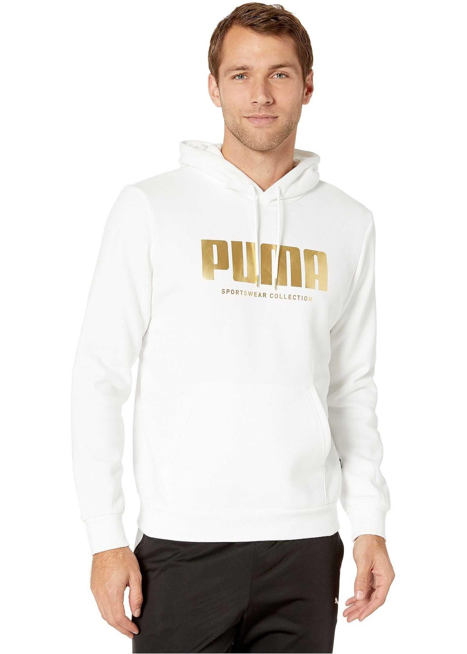 PUMA Holiday Pack Crew Hoodie FL White
