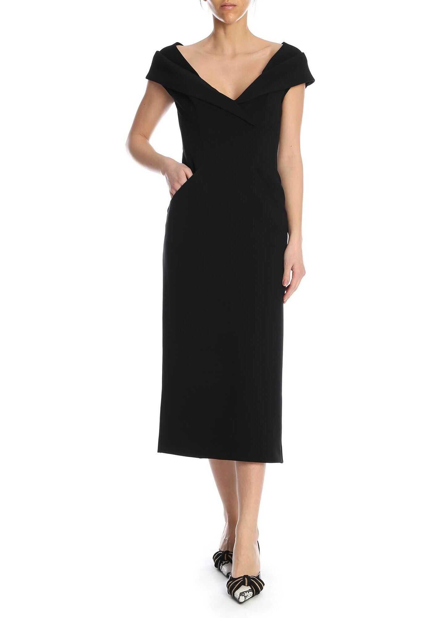 Ermanno Scervino Sleeveless Sheath Dress In Black Black