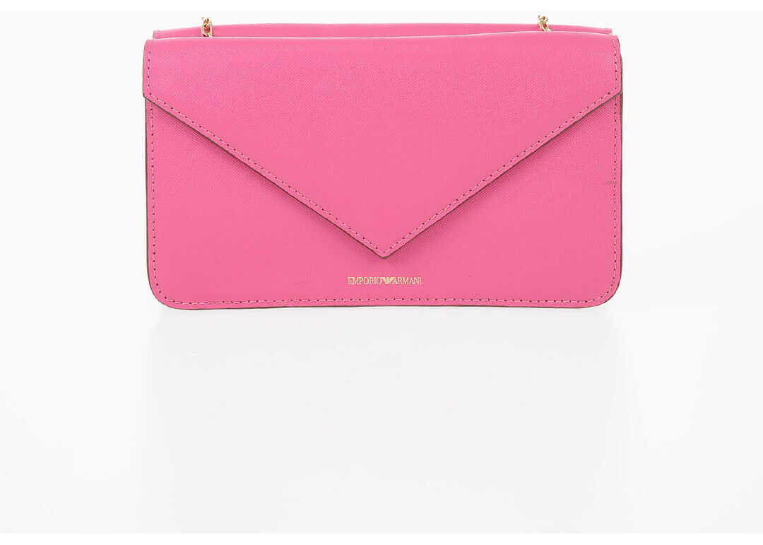 Armani EMPORIO Leather Pochette PINK