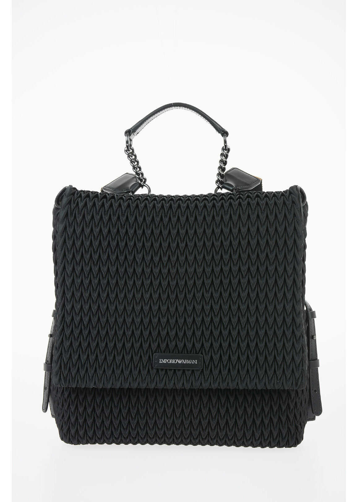 Armani EMPORIO Satin Backpack BLACK