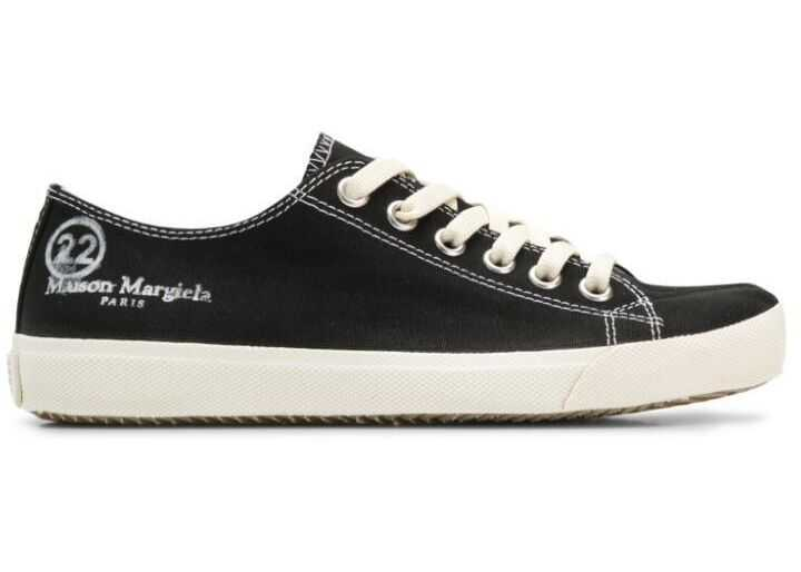 Maison Margiela Cotton Sneakers BLACK