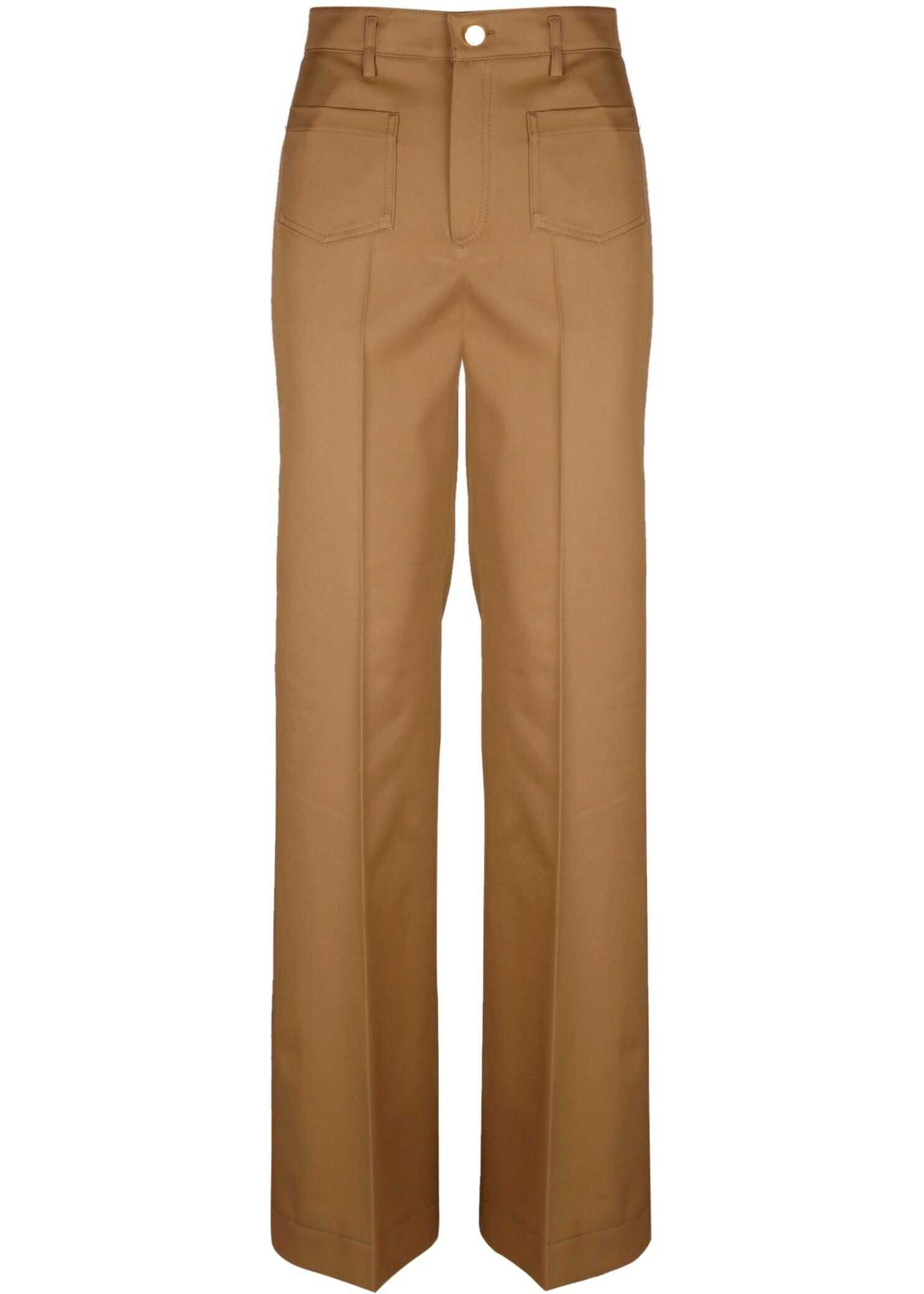 RED VALENTINO Cotton Pants BROWN