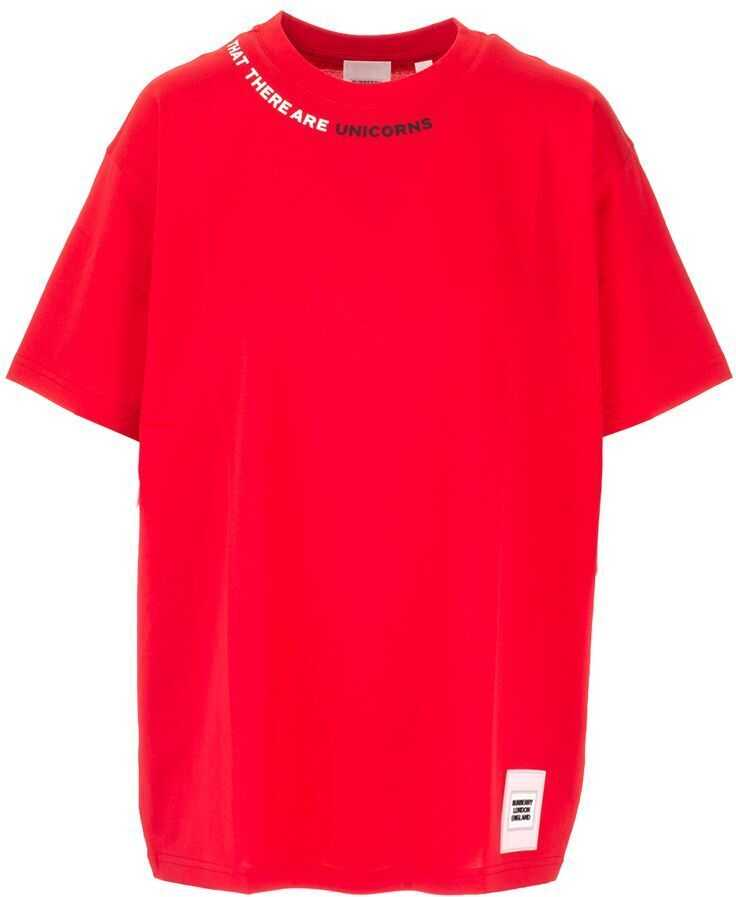 Burberry Cotton T-Shirt RED