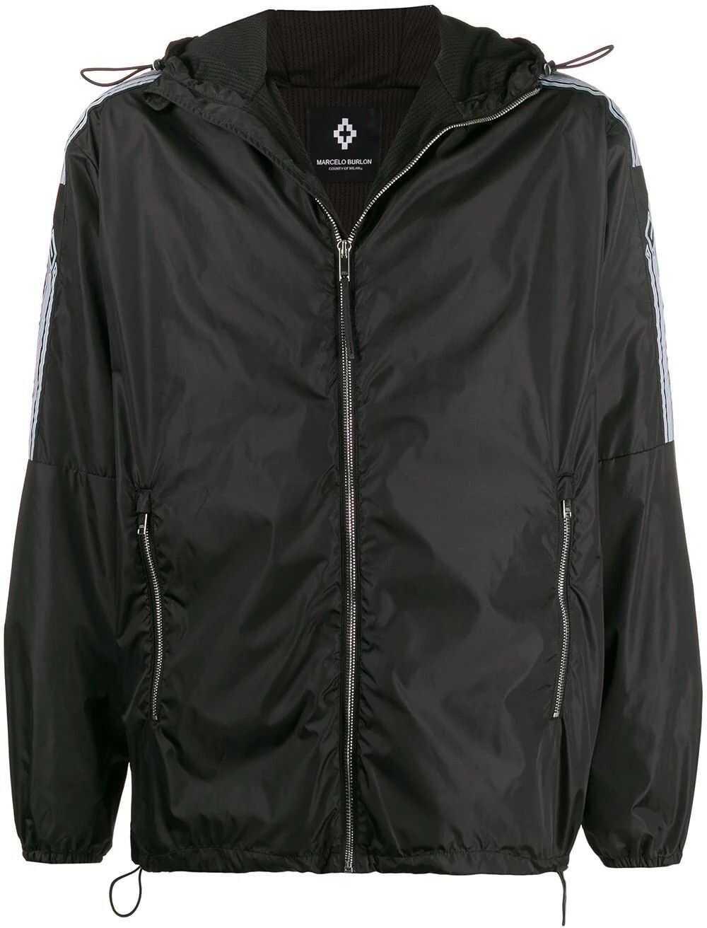 Marcelo Burlon Polyester Outerwear Jacket BLACK